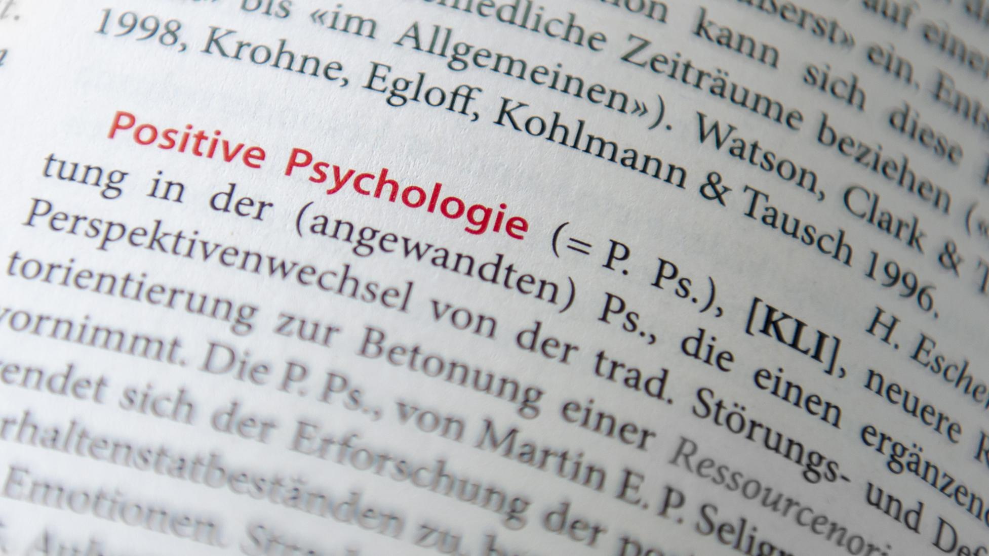 Was ist Positive Psychologie?