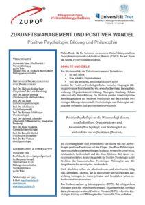Flyer ZUPO Positive Psychologie Trier